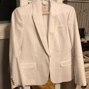 J. Crew suiting white blazer